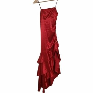 Red Assemtrical Prom Dress